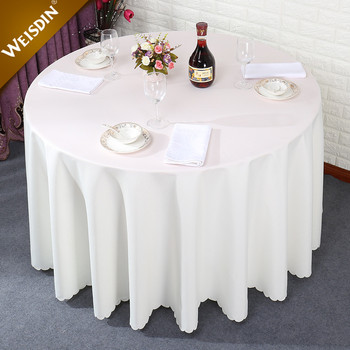 Hotel Restaurant Table Linens Plain White Polyester 108 Inch Round Wedding  Table Cloth   Buy Table Cloth,Wedding Table Cloth,Round Table Cloth Product  ...