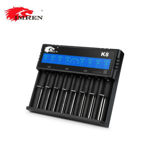 new IMREN K8 18650 battery charger LED universal portable 3.6/3.7v digital charger