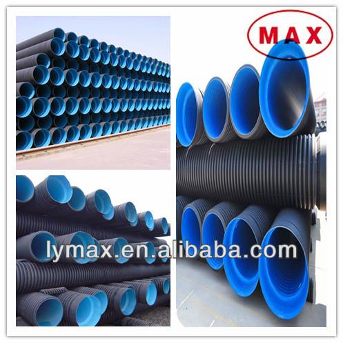 Hdpe tubi corrugati in plastica di scolo e fognature di for Tipi di tubi di plastica