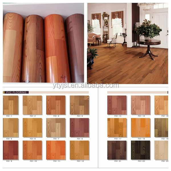 Indoor madera mirada rollo pisos de vinilo del pvc suelo - Linoleo pavimento ...