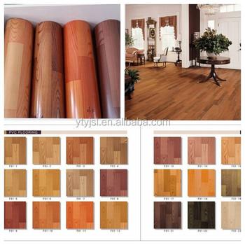 indoor wood look roll pvc vinyl flooring linoleum flooring - Linoleum Flooring Rolls