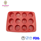 Food grade 12 holes silicone muffin pan /cake mould