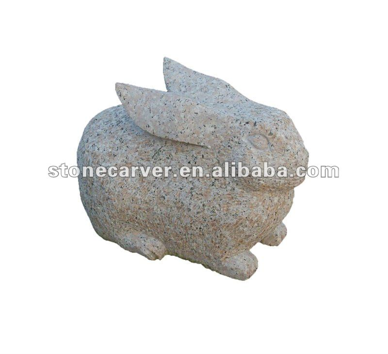 Natural Stone Rabbit Carving