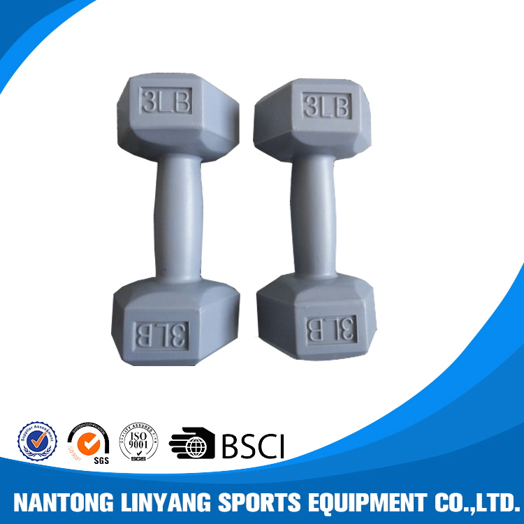 Best quality top sell hexagon agonal dumbbell