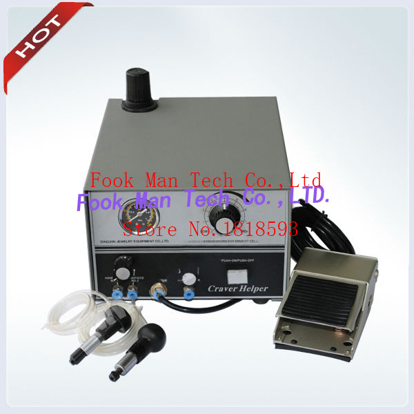 DHL free shipping GRS Tools Graver Ma With 2 Handpieces Jewelry Engraving Machine Graver Helper Metal Engraving tools