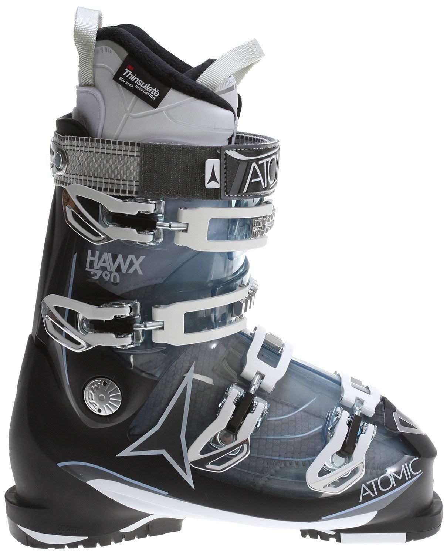 Atomic Hawx 2.0 90 Ski Boots Transparent Light Blue/Black Womens Sz 8.5 (25.5)