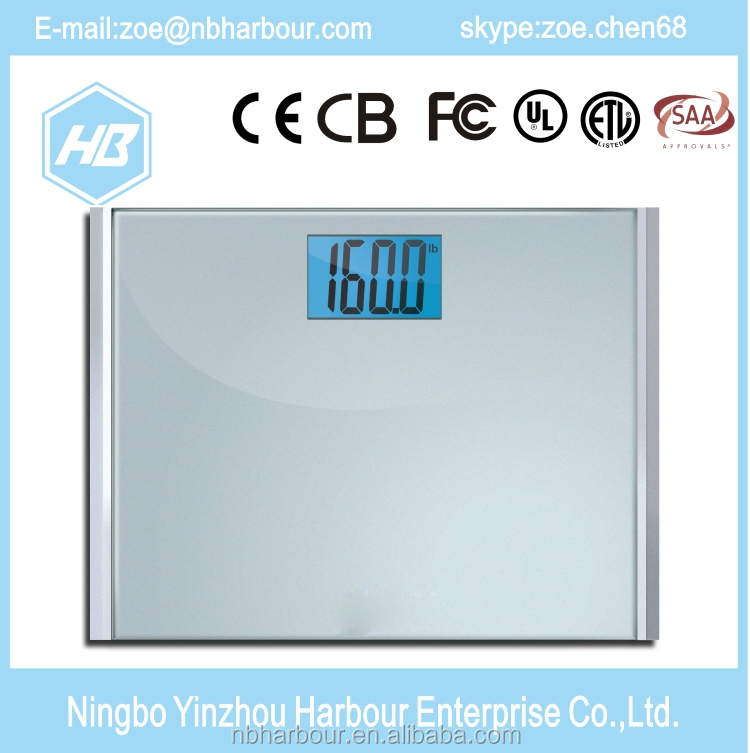 Portable digital electronic personal bathroom scale electronic/body fat scale load cell/digital body fat scale