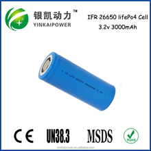 Home solar system, power tool LiFePO4 18650 26650 battery cell 3200mAh 3000mAh 3.2V with PCM