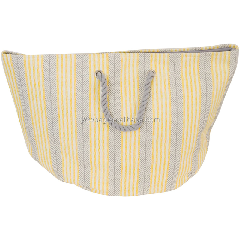 Canvas Tote Bag Rope Handle Laundry
