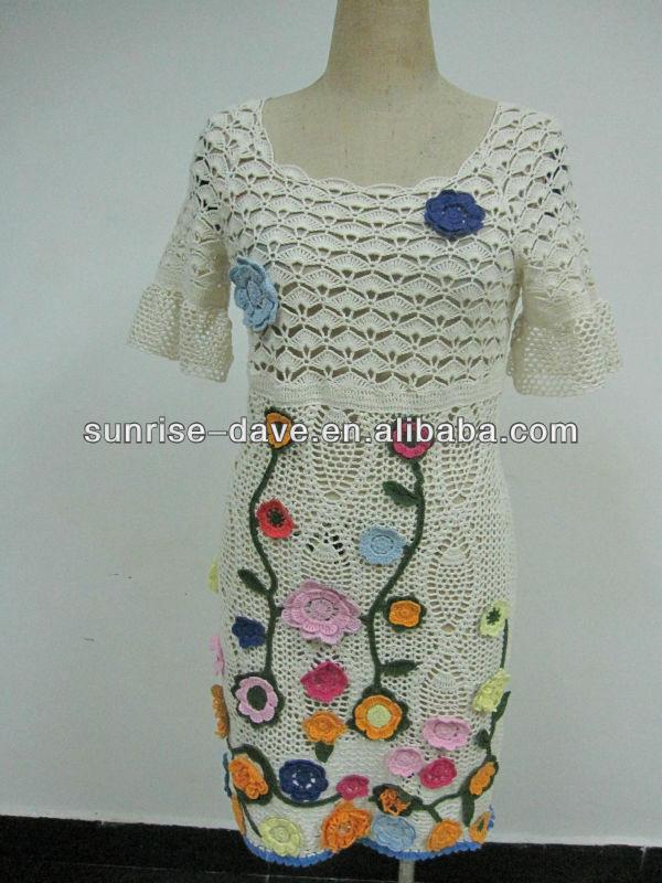 Womens Crochet Sweater With Flower Pattern Buy Womens Crochet