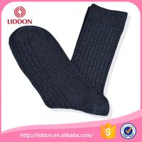 Ultra comfortable double cylinder cotton dress black socks for men
