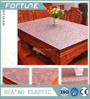 household use plastic embossing sheet water proof cover for dining table