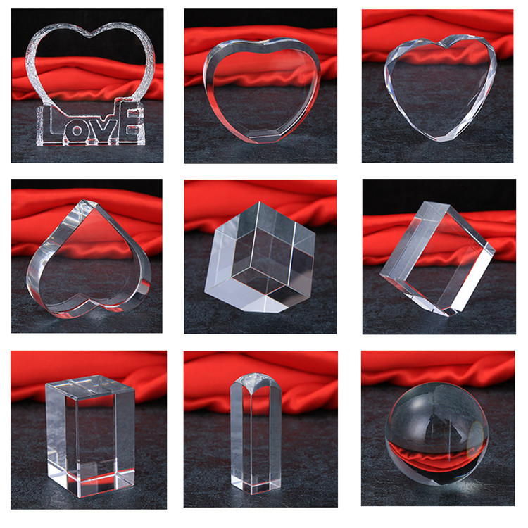 Wholesale High Quality Irregular Shaped Decorative Blank Blank Sapphire Raw Crystal Glass Block
