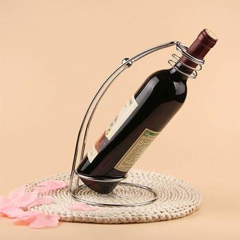 Home Deco Metal Wire Frame Wine Bottle Stand Single Bottle Wine