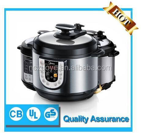 Hot sell safety guarantee stainless steel cooking pots low pressure cooker with Midea brand 2016