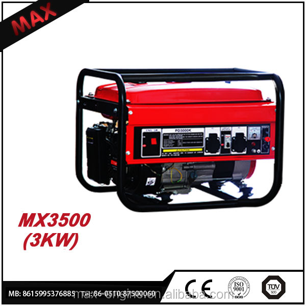 CHINA New Single Cylinder MAX Gasoline 3 kw 220v Gasoline Generator