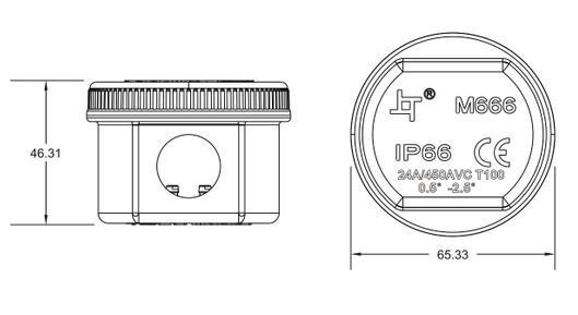 pp plastic ip66 round junction box waterproof electric