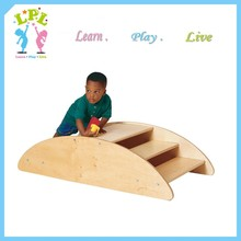 Nursery school used Daycare furniture kid wooden furniture Step rocking boat for kids playing