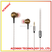 Factory supply cheap metal headphone earphone for computer/cellphone/music player