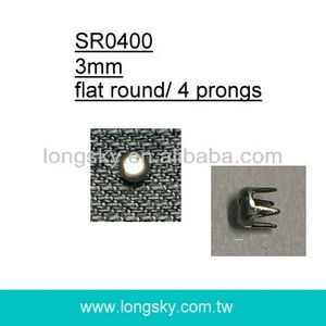 (#SR0400/4.5mm) round metal prong clothing stud for clothing