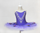 Adult Girls Lovely Performance Wear Tutu Leotard with Skirt for Stage Childrens' Purple Ballet Tutu Dress