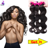 7A Indian Virgin Hair Body Wave 4 Bundles Unprocessed Virgin Indian Body Wave Remy Queen Hair