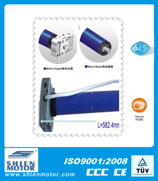 Roll up shutter tubular motor 45mm with mechanical limited