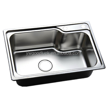 680x450mm 1mm Thickness 2 Holes Undermount Kitchen Sink Without Faucet 6845h