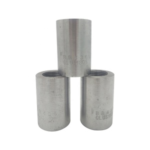 Carbon steel material construction and building used parallel threaded 80mm length 36mm rebar coupler