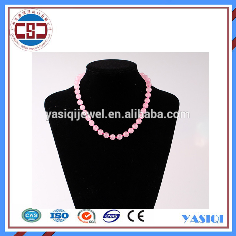 Gold supplier of fine jewelry stone bead necklace for women