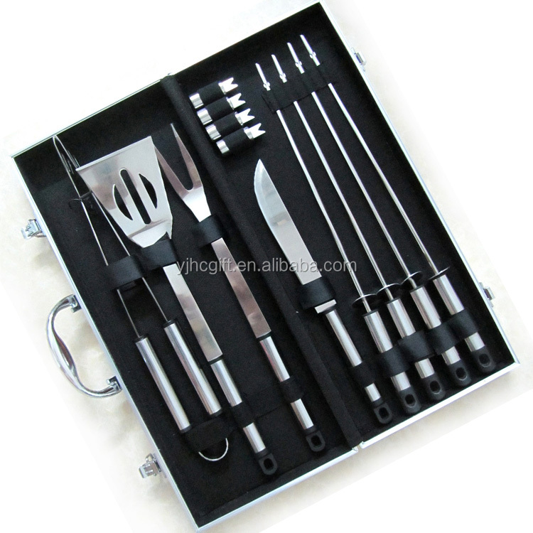 bbq set with aluminum case wholesale bbq grill tools