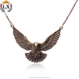 PLX-00360 latest wholesale eagle clasp pendant antique bronze new-designed gold chain pendant animal pendants made in YiWu