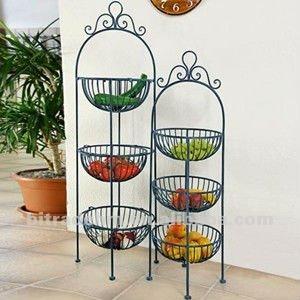 2 Sets Floor Stand Metal Fruits Holder