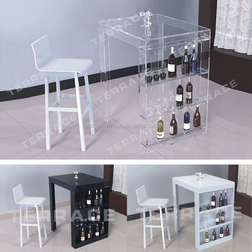 Superieur Lucite Mini Bar Table With Wine Rack,Modern Acrylic Pub Tables   Buy Long Bar  Table,Dining Table,Wine Rack Product On Alibaba.com