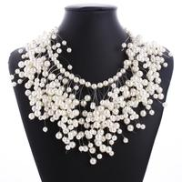 Factory Stock Fashion Chunky Necklace wholesale Pearl necklaces QD2932