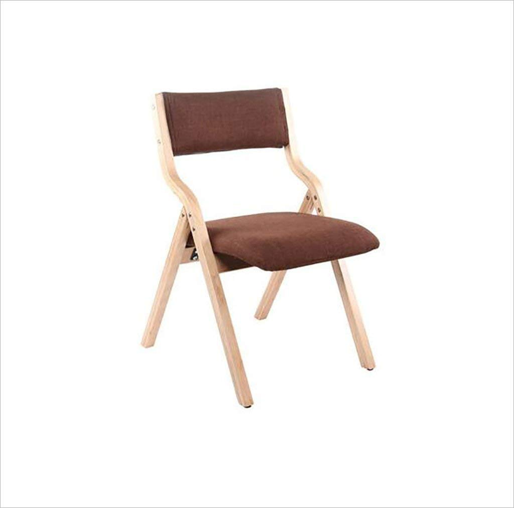 fold up chairs Home simple portable solid wood folding dining chair, simple folding back computer chairs, living room chairs (Size: 41.6 78.5cm) Folding Chairs (Color : B)