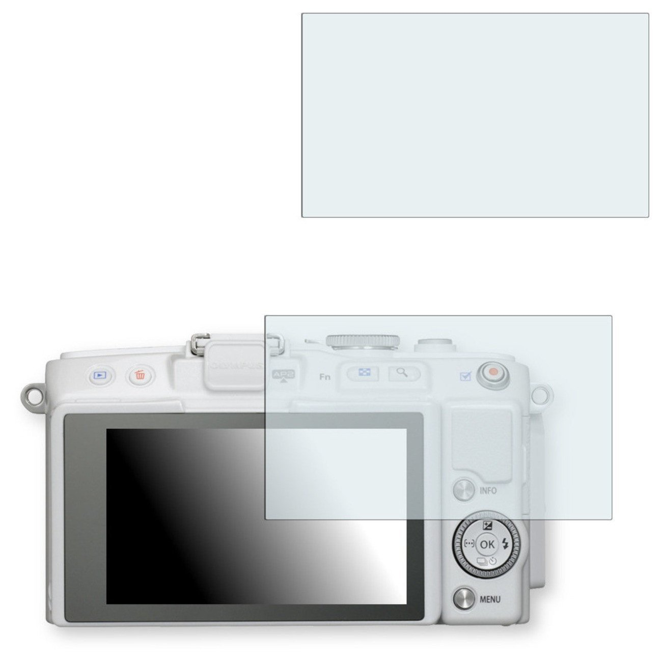 2x Golebo Anti-Glare screen protector for Olympus PEN E-PL6 (Anti-Reflex, Air pocket free application, Easy to remove)