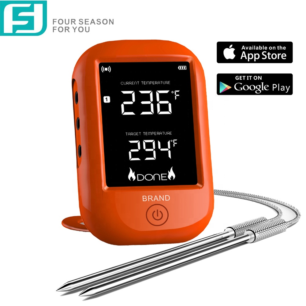 6 kanaals Bluetooth Draadloze Digitale BBQ Vlees Thermometer