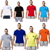 Cheap 100% cotton short sleeves men gym printing t shirt