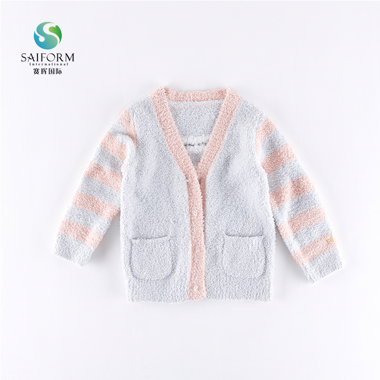 Children handmade new style girls cardigan sweater