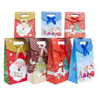 Custom Made Gift Paper Bags Christmas With Die Cut Handle