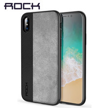 Luxury Back Case For iPhone X Brand Phone Cases Rock Soft TPU PU Leather Phone Bag Cover All Round Protect Shell For iPhone X