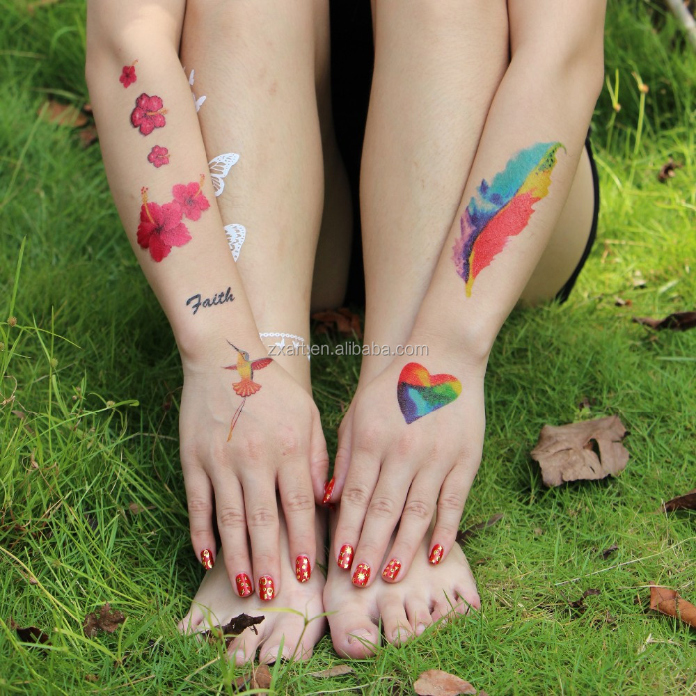 Fashional pabrik anak-anak CMYK transfer air temporary tattoo sticker