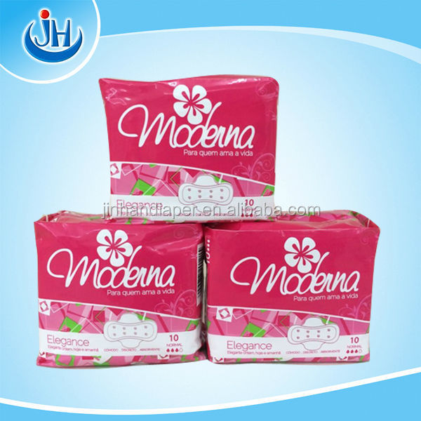 Angola branded name Moderna with mesh surface/perfume sanitary napkin/odor control lady sanitary napkins/nappies