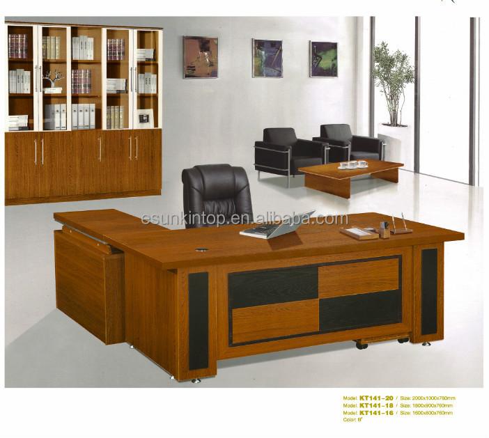 1 8 meter office desk l shape wooden office table design for Manager office design