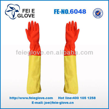 50cm extra long household rubber fishing cleaning gloves for Fish cleaning gloves