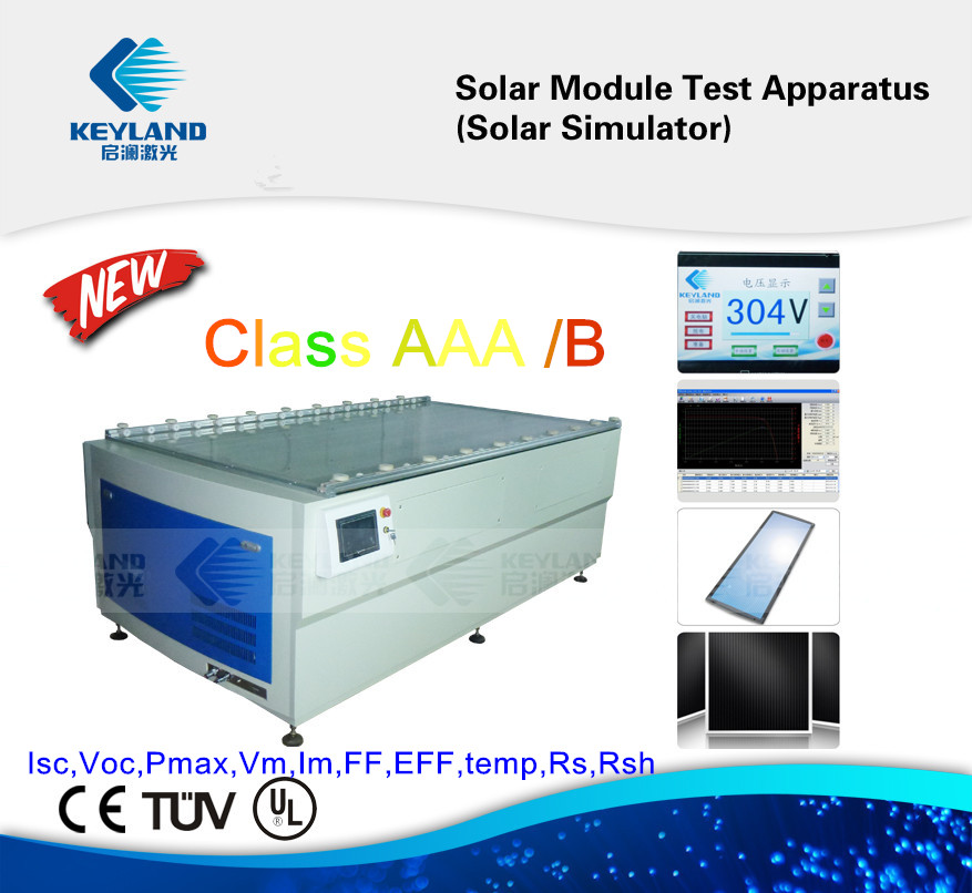 Keyland low cost grade aaa iv xenon lamp solar panel simulator testing machine system flash with PLC Control System