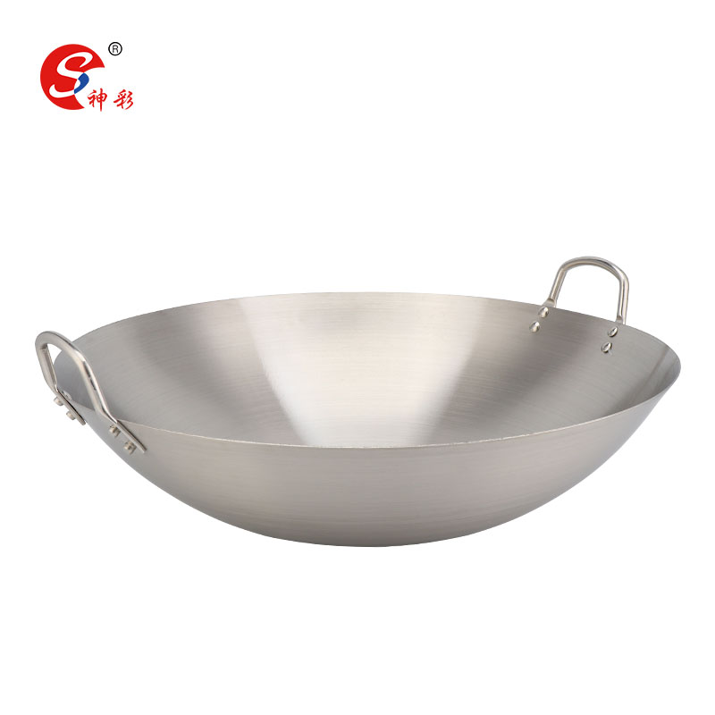 Hot Sale Wok Pan Stainless Steel Chinese Wok Pan Stainless Steel Wok With Handles