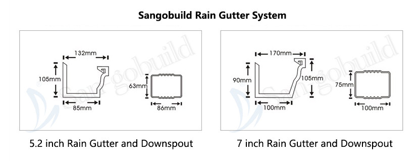 Pvc Square Downspout Sgb White And Never Fade Roof