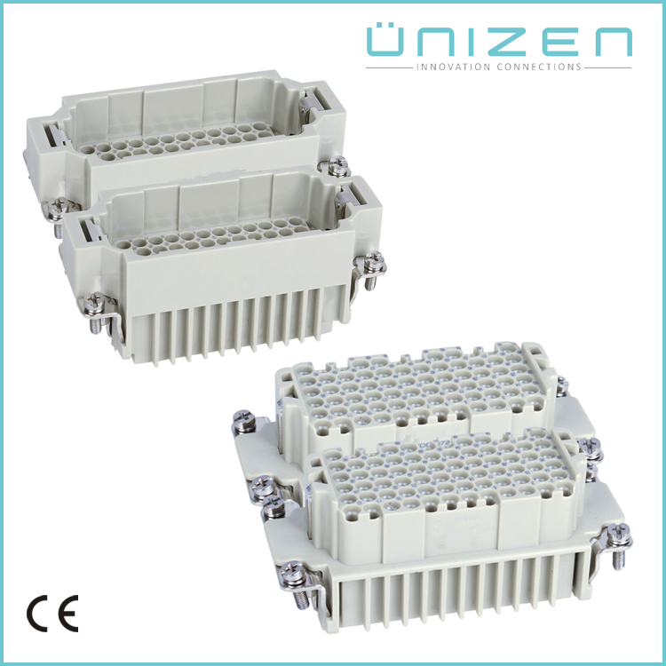 UNIZEN HDD-144 72*2pin 144P+PE inserts with hood house male female wire connector